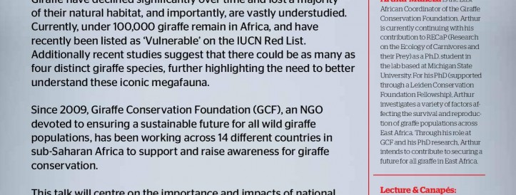 ADVANCING GIRAFFE CONSERVATION IN EAST AFRICA IN THE 21ST CENTURY- IMRE LOEFLER LECTURE