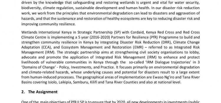 Call for Bids for Investments Mapping along Ewaso Ng'iro and Tana River Basins Docs